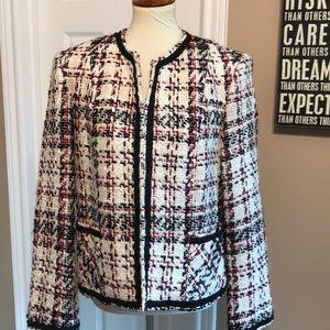 Peter Nygard size 12 Wool blazer ❤️ Houndstooth